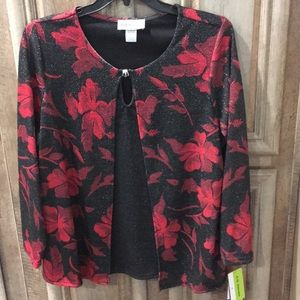 New With Tags Plus Size Stretch Top (Christmas)